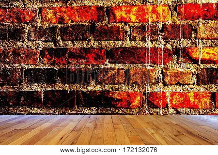 Image of ancient brick wall background texture