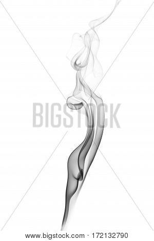 wavy black smoke on a white background