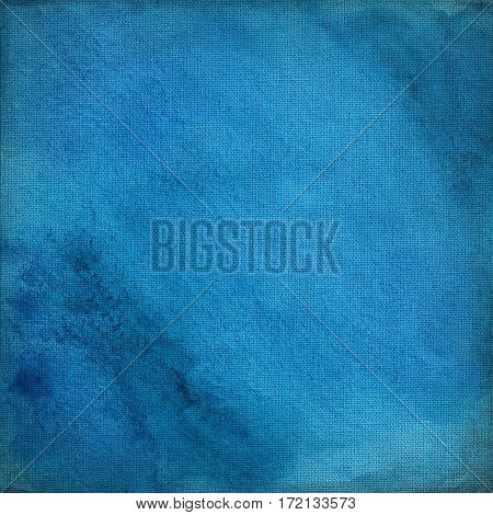 blue canvas with delicate grid to use as grunge background or texture