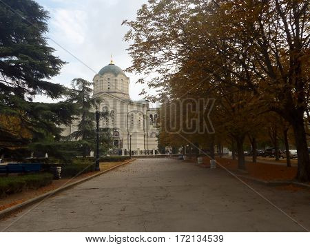 Saint Vladimir Cathedral in Sevastopol city, Crimea