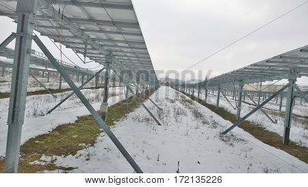 production of electricity by photovoltaic panels South Bohemia Czech Republic