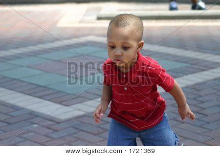 Little Toddler Boy Running