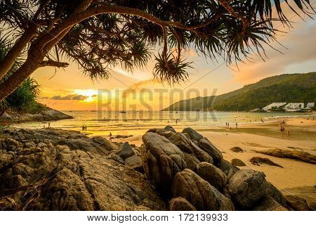 Landscape from Phuket View Point at Nai Harn Beach Located in Phuket Province Thailand.