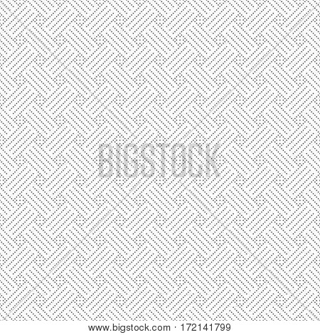 Vector seamless pattern. Abstract small dotted textured background. Modern stylish texture. Regularly repeating geometrical tiles with dots dotted grids rhombuses. Contemporary design.