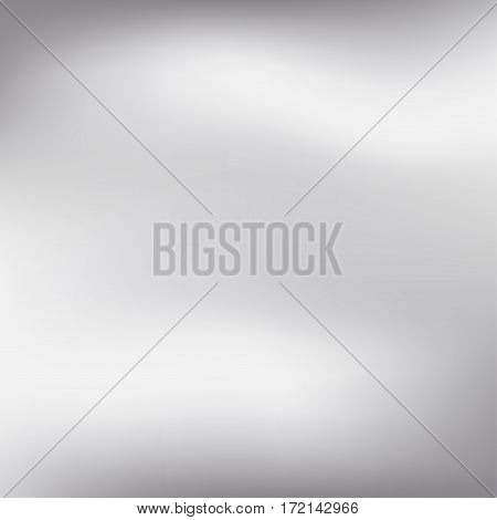 Vector Silver Blurred Gradient Style Background. Abstract Smooth Colorful Illustration, Social Media