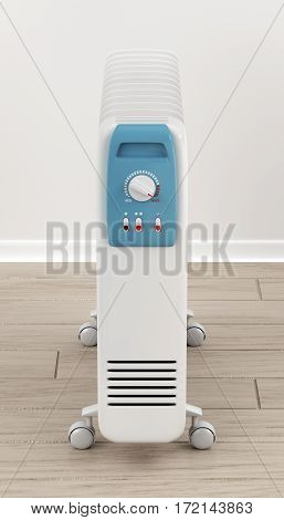 3d illustration of electric oil filled heater