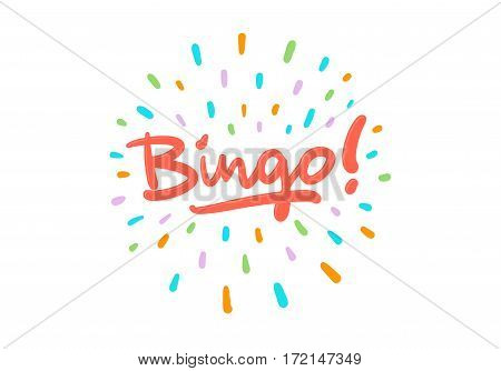 Bingo vector logo postcard with splash effect