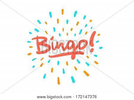 Bingo vector logo postcard with splash effect