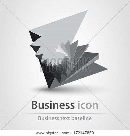 Originally created 3d like style business icon