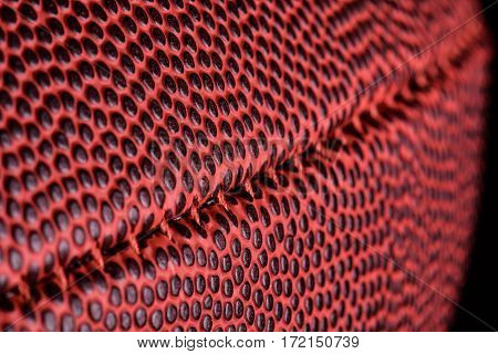 American football ball close up texture leather