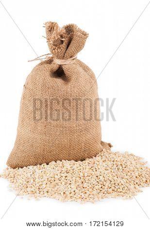 Bag with pearl barley
