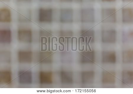 Vague white brown grid blurred plaid textured background