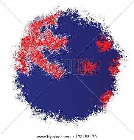 Color spray stylized flag of New Zealand on white background
