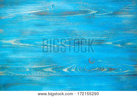 Vintage Blue Wood  Background Texture With Natural Patterns