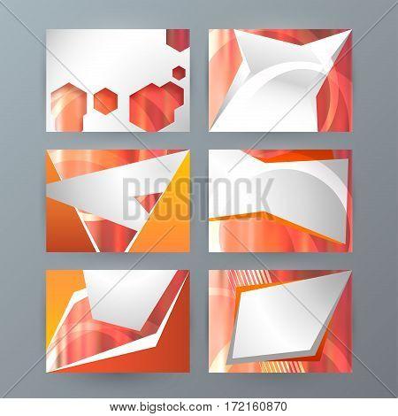 Set Of 6 Design Business Brochure  Templates For Multipurpose Presentation Slides04
