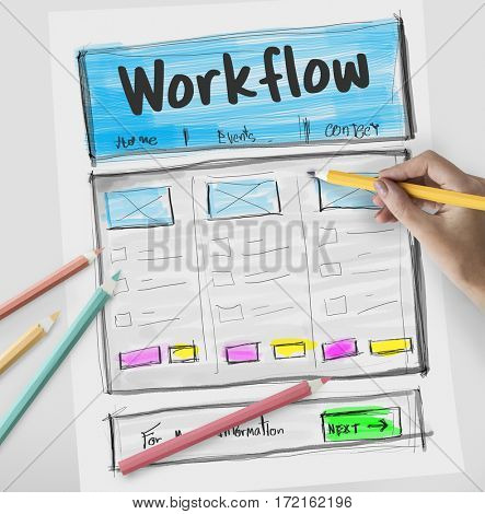 Product Design Drawing Website Graphic
