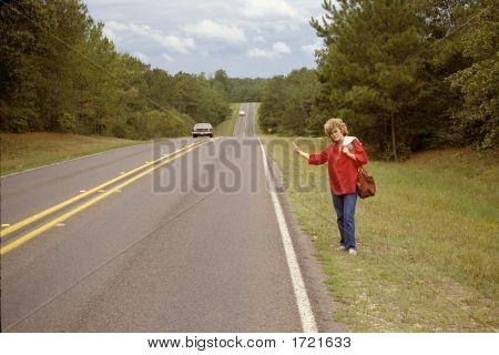 Woman Hitchhiking Gtg