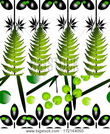 background with decoration green balck leaves pattern