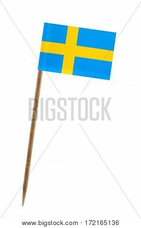 Tooth pick wit a small paper flag of Sweden
