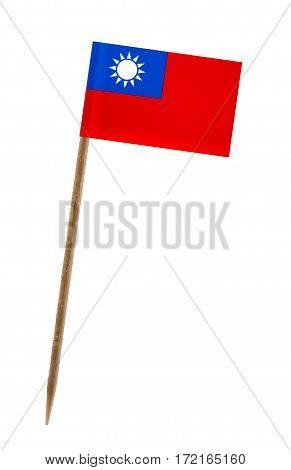 Tooth pick wit a small paper flag of Taiwan