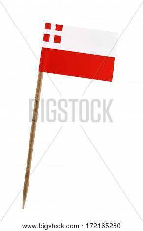 Tooth pick wit a small paper flag of Utrecht