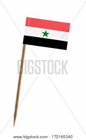 Tooth pick wit a small paper flag of Yemen