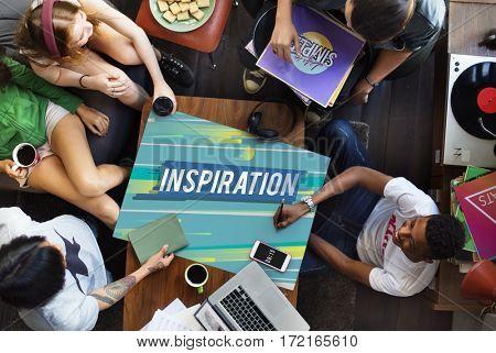 Inspire inspiration positivity word concept