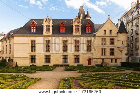 The Hotel de Sens Paris France is in between late Gothic and early Renaissance style and now houses the Forney art library.It was built between 1475 and 1507.