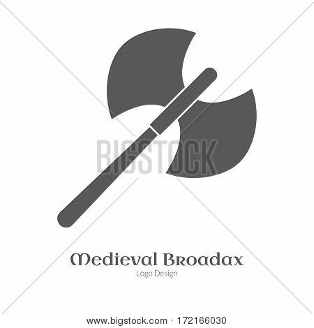 Medieval Logo Emblem Template, Black Simple Style