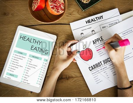 Healthy eating care planning diet