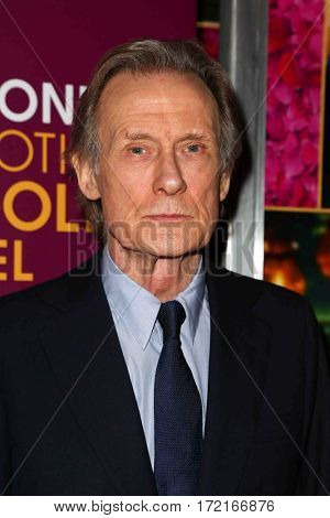 NEW YORK-MAR 3: Actor Bill Nighy attends the premiere of