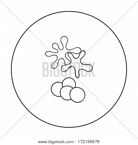 Balls for paintball icon in outline design isolated on white background. Paintball symbol stock vector illustration.