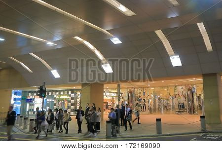 HONG KONG - NOVEMBER 10, 2016: Unidentified people visit Tai Koo Cityplaza. Tai Koo Cityplaza is a 6 level mall houses more than 170 shops restaurants cinema and an indoor ice rink.