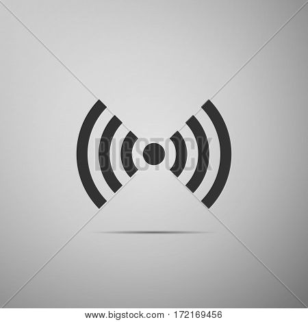 Wi-Fi network symbol flat icon on grey background. Vector Illustration