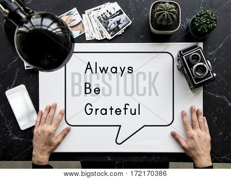 Grateful Thanks Blessing Inspire Motivation Positive