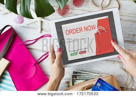 Online Shopping Cart E-Commerces Concept
