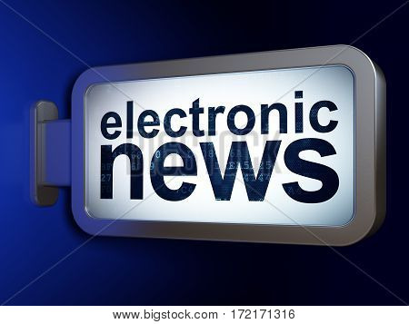 News concept: Electronic News on advertising billboard background, 3D rendering