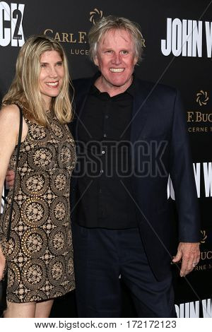 LOS ANGELES - JAN 30:  Steffanie Sampson, Gary Busey at the