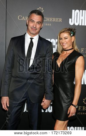 LOS ANGELES - JAN 30:  Chad Stahelski, Heidi Moneymaker at the