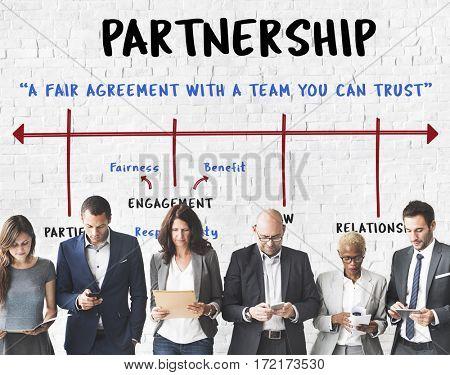Partnership Alliance Collaboration Business Arrow