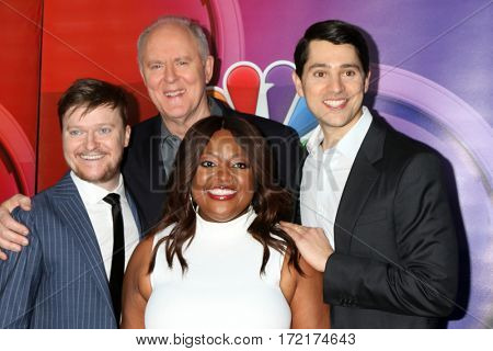 LOS ANGELES - JAN 18:  Steven Boyer, John Lithgow, Sherri Shepherd, Nick D'Agosto at the NBC/Universal TCA Winter 2017 at Langham Hotel on January 18, 2017 in Pasadena, CA