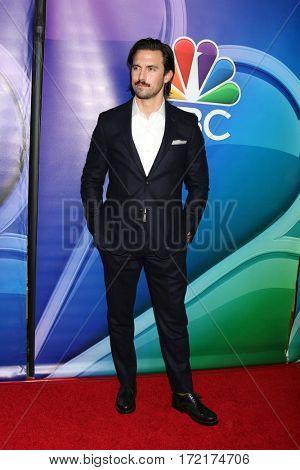 LOS ANGELES - JAN 18:  Milo Ventimiglia at the NBC/Universal TCA Winter 2017 at Langham Hotel on January 18, 2017 in Pasadena, CA