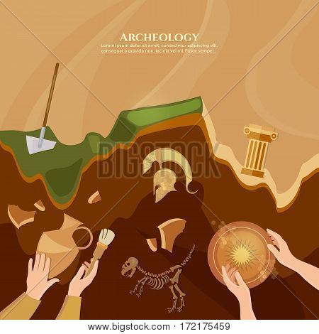Archaeological excavation of ancient ruins ancient history achaeologists unearth artifacts