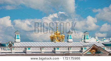 Roofs, dome and sky Tsarskoye Selo (Pushkin)