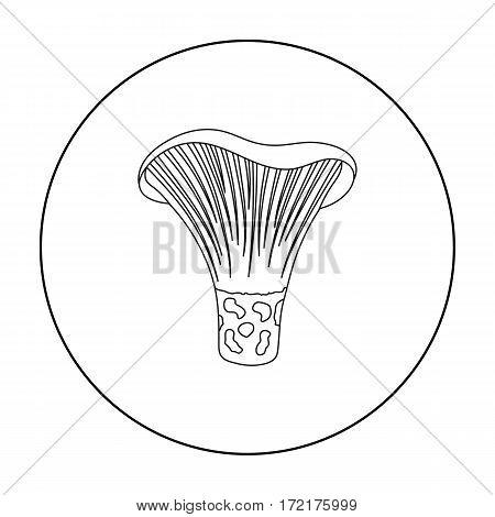 Actarius indigo icon in outline style isolated on white background. Mushroom symbol vector illustration.