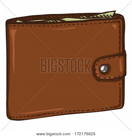 Vector Single Cartoon Leather Wallet