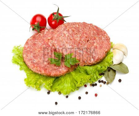 Raw Beef And Pork Hamburger Meat