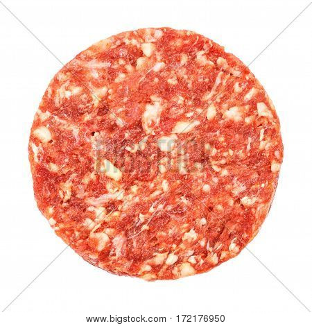 Top View Of Beef Hamburger Meat