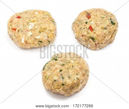 Raw Spicy Meatball With Herbs And Vegetables
