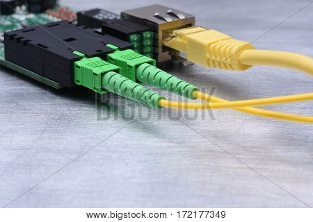 Internet Of Things Optical Fiber Converter, Information Technology, Copy Space